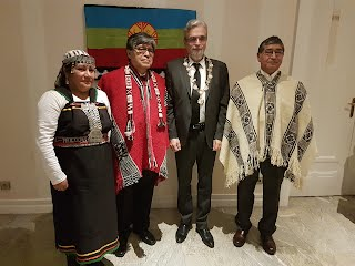 Prince Frederic with Mapuche supporters at his inauguration.